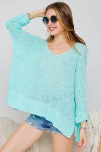Mint For You Dolman Sweater