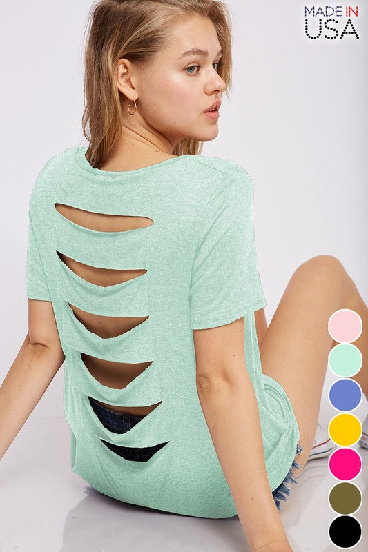 Mint Slash Tee