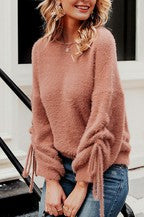 Mohair Brick Ruched Sweater