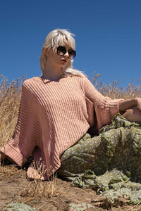 Rose Chenille Pullover
