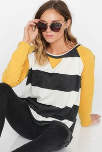 Wide Stripe French Terry