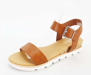 Tan Lug Sole Sandals