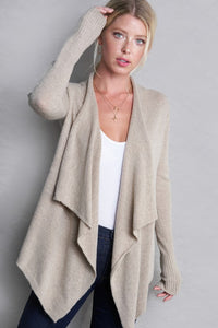 Taupe Transitional Cardi