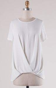 Ivory Pleated Top