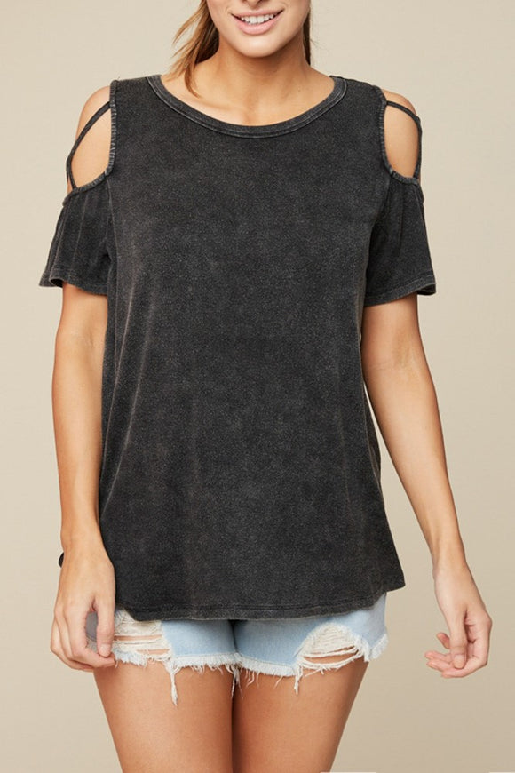 Strappy X Sleeve Tee