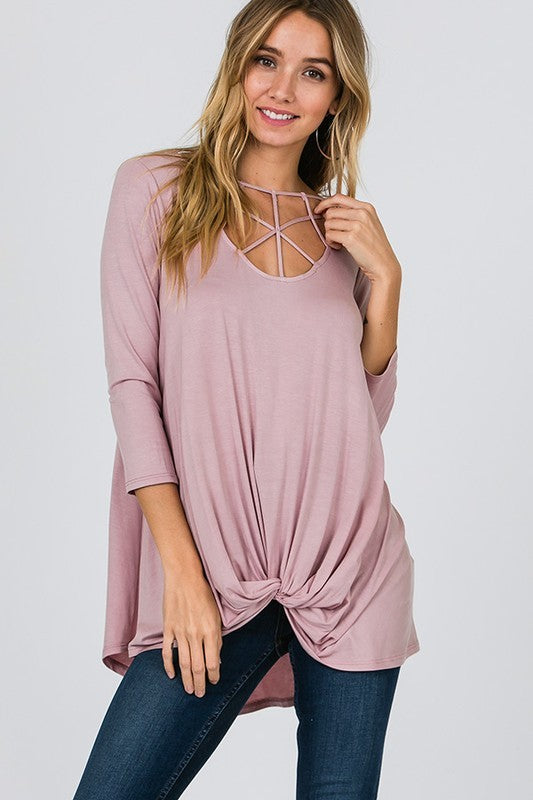 Blush Cage Top