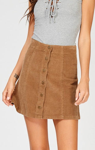 Corduroy Skirt- Brown