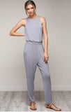 Grey Peek Back Jumpsuit