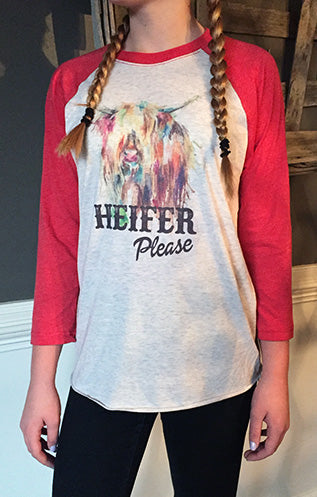 Heifer Please Raglan