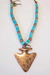 Copy of Turquoise & Copper Arrowhead Necklace