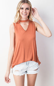 Terracota Mock Neck