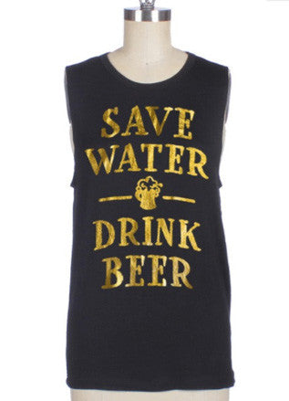 Save Water Drink Beer Muscle Tee