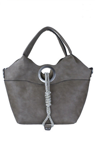 Stone Taupe Naval Inspired Purse