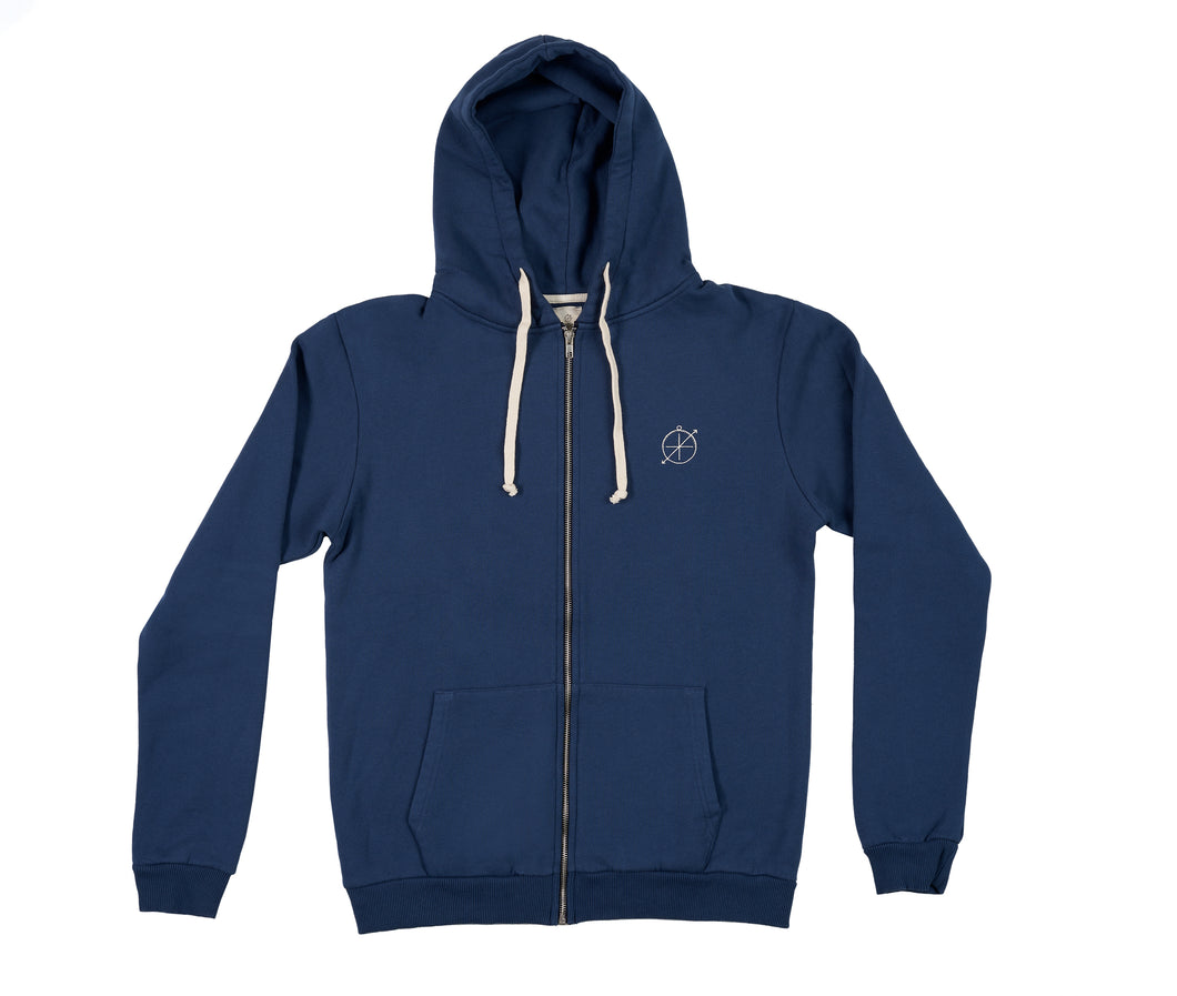 Astrolabe Zip Jacket - Navy Blue