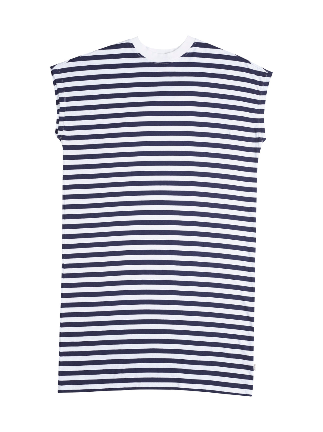 Lines Dress Navy Blue Woman