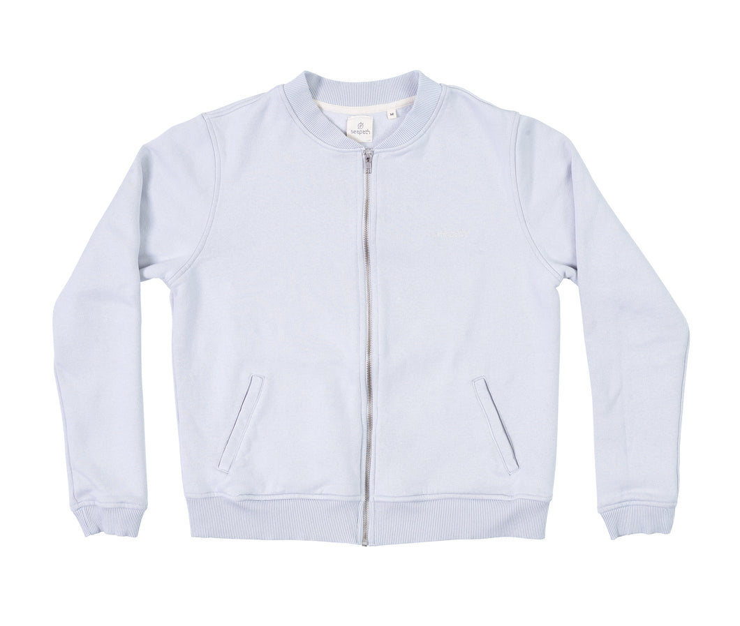 Seapath Zip Jacket - Light Grey