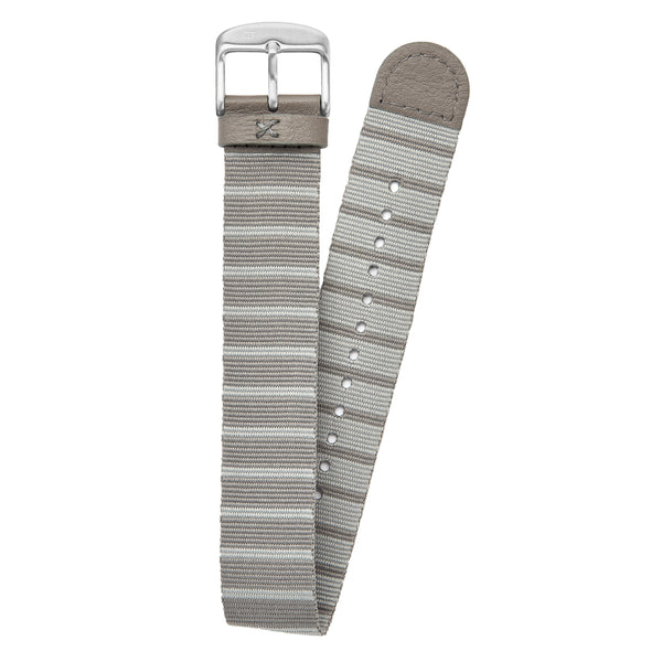 20mm grey striped nato strap