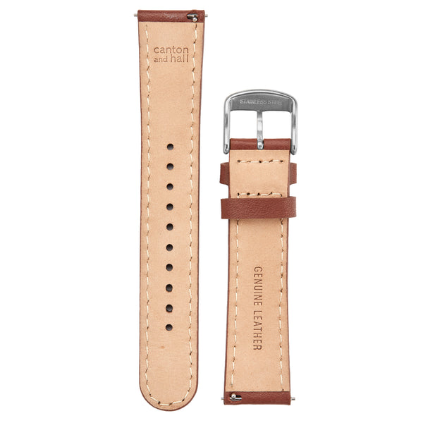 20mm brown leather strap
