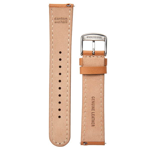 20mm tan leather strap