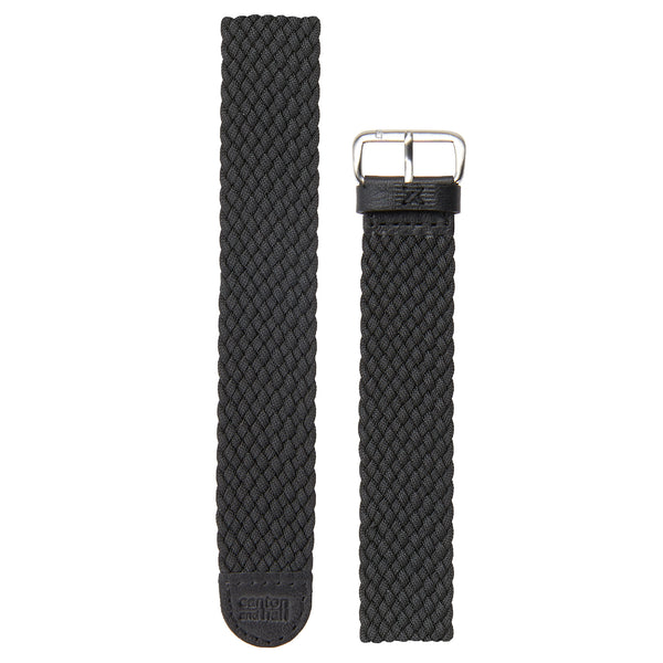 20mm black perlon strap