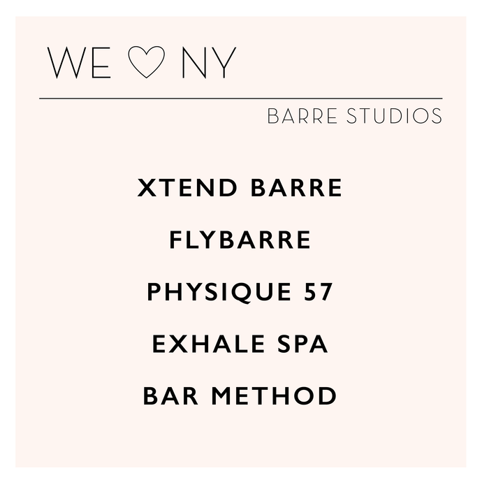 we ♡ NY : barre studios