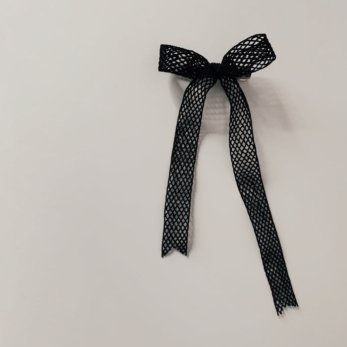 French Elastic Long Bow - Black Netting