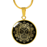 ShineOn Fulfillment Jewelry Luxury Necklace (Gold) Vintage Skull Luxury Necklace & Bangle
