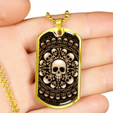 ShineOn Fulfillment Jewelry Skull & Bones Military Ball Chain