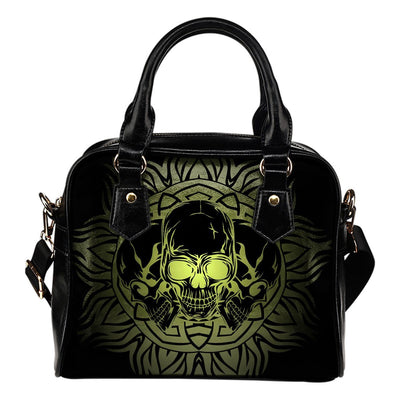Skull Obsession 1 Triple Skull in Round Ornament Handbag