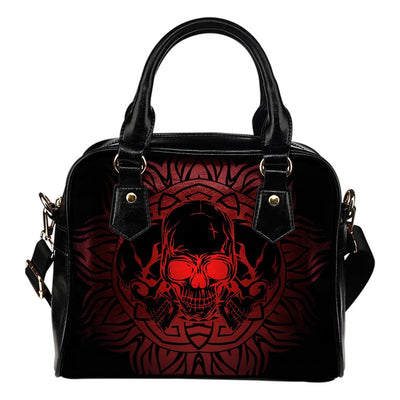 Skull Obsession Triple Skull in Round Ornament Handbag