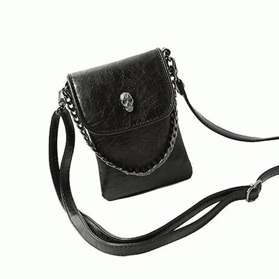 Skull Obsession Bags Skull Leather Crossbody Bag
