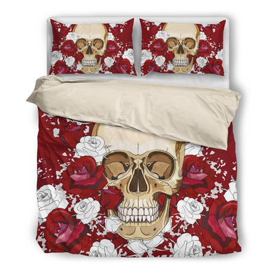 Skull Obsession Bedding Set - Beige - white / Twin R&W Skull Bedding Set
