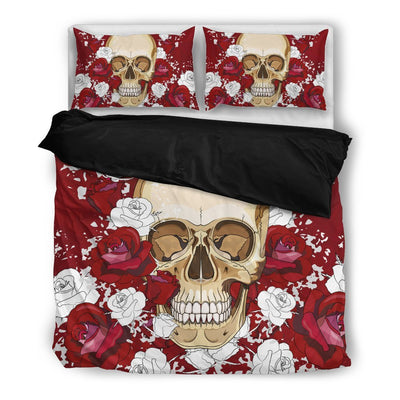 Skull Obsession Bedding Set - Black - black / Twin R&W Skull Bedding Set