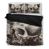 Skull Obsession Bedding Set - Black - BLACK / Twin Skull & Grunge Bedding Set