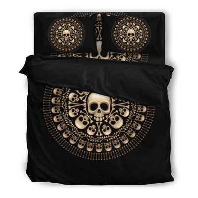Skull Obsession Bedding Set - Black - Black / Twin Skulls & Bones Bedding Set