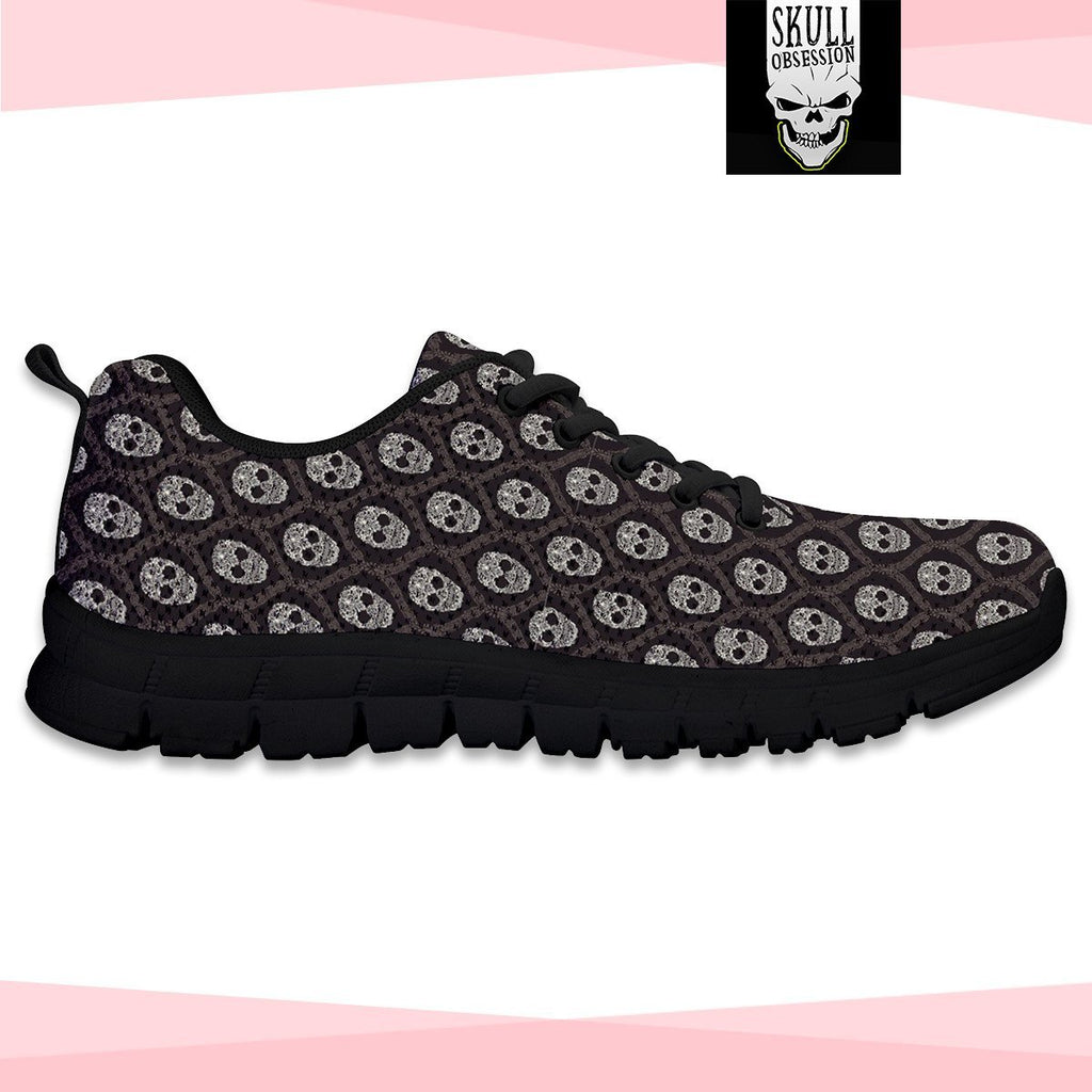 Skull Obsession Black Skull Sneakers