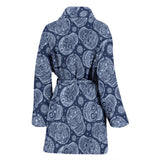 Skull Obsession Blue Skull Women's Bath Robe