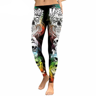 Skull Obsession S Colorful Punk Skull Leggings