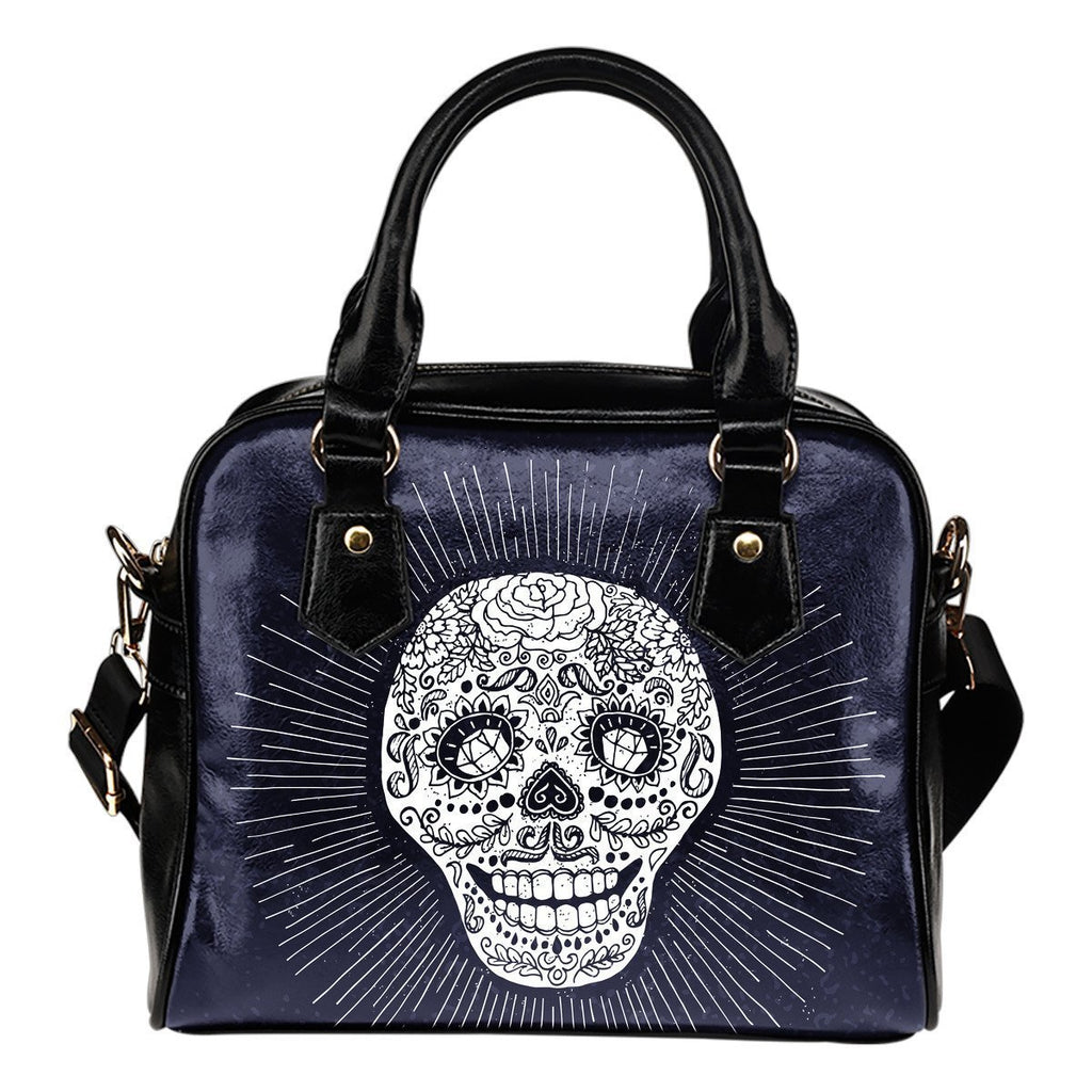 Skull Obsession Dark Blue Sugar Skull Handbag ii