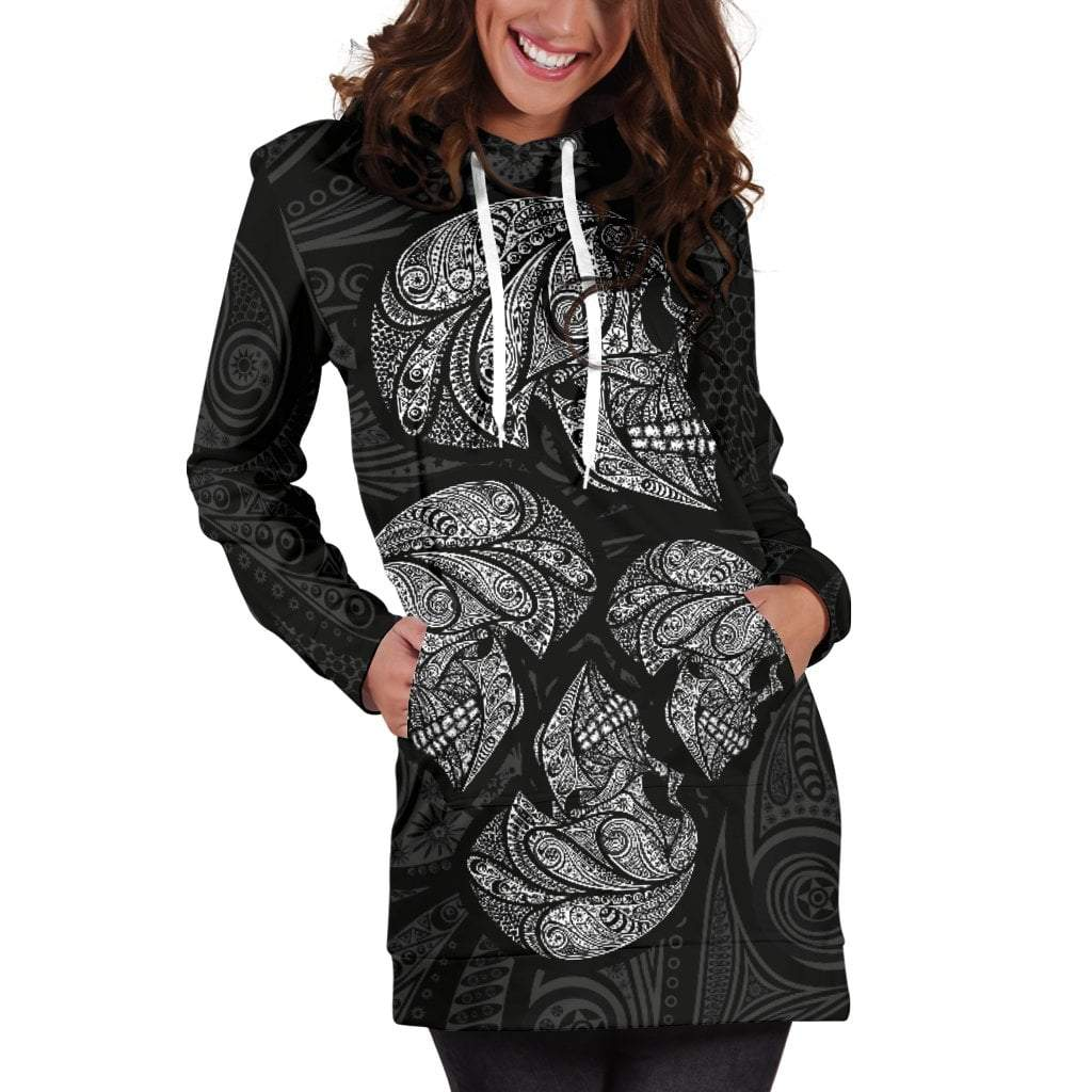 Skull Obsession Dark Skull Hoodie Dress