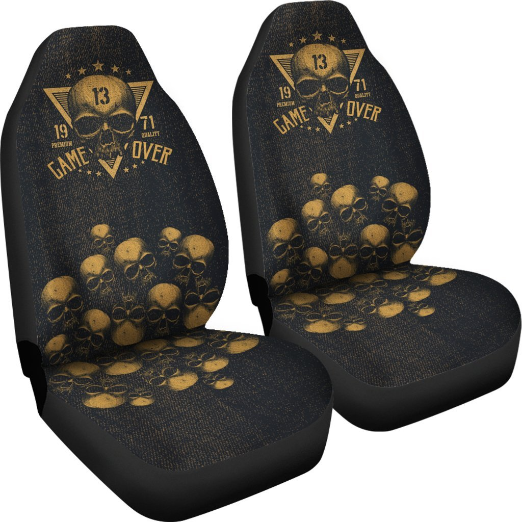 Skull Obsession Game Over Car Seat Covers