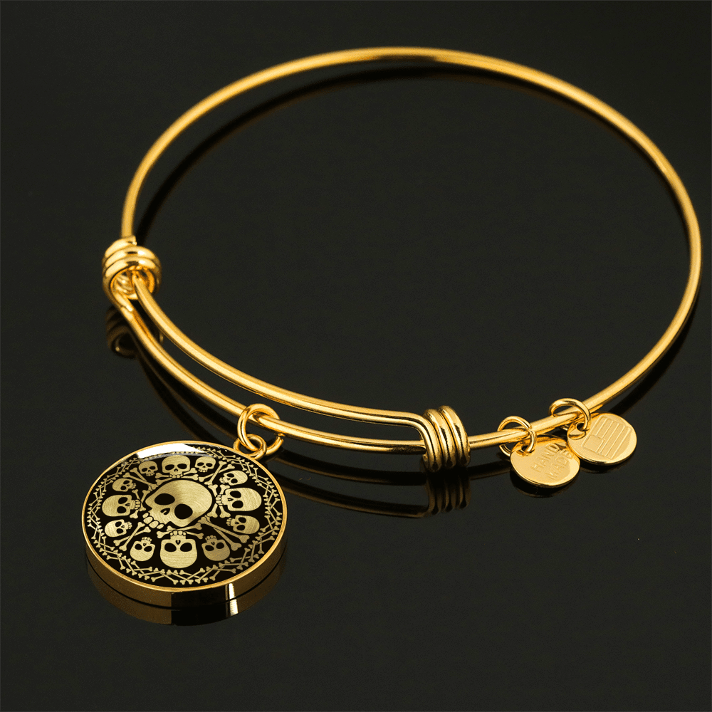 Skull Obsession Jewelry Luxury Bangle (Gold) SKULL & BONES LUXURY NECKLACE & BANGLE