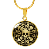Skull Obsession Jewelry Luxury Necklace (Gold) SKULL & BONES LUXURY NECKLACE & BANGLE