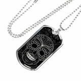 Skull Obsession Jewelry Military Chain (Silver) Vintage skull Military Ball Chain