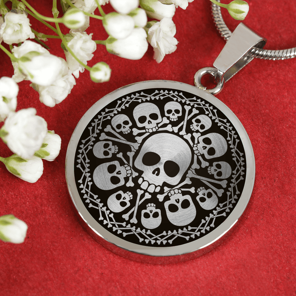 Skull Obsession Jewelry SKULL & BONES LUXURY NECKLACE & BANGLE