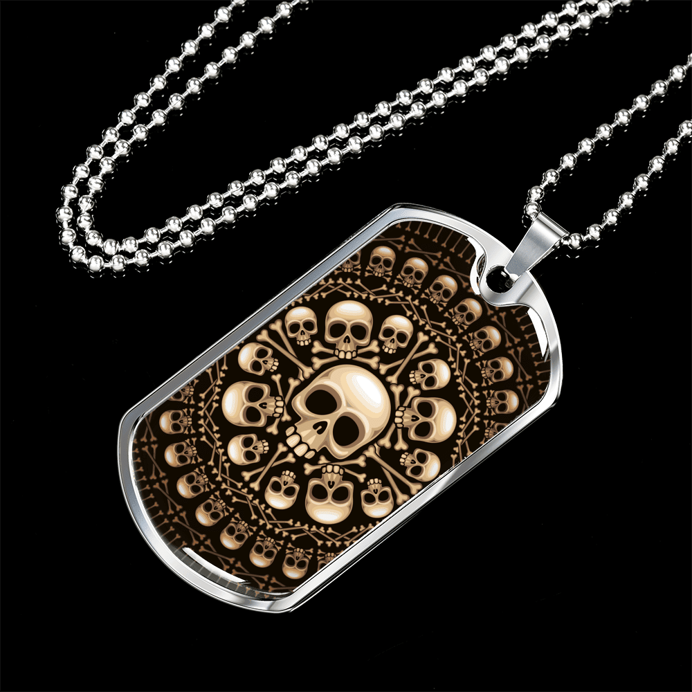 Skull Obsession Jewelry Skull & Bones Military Ball Chain
