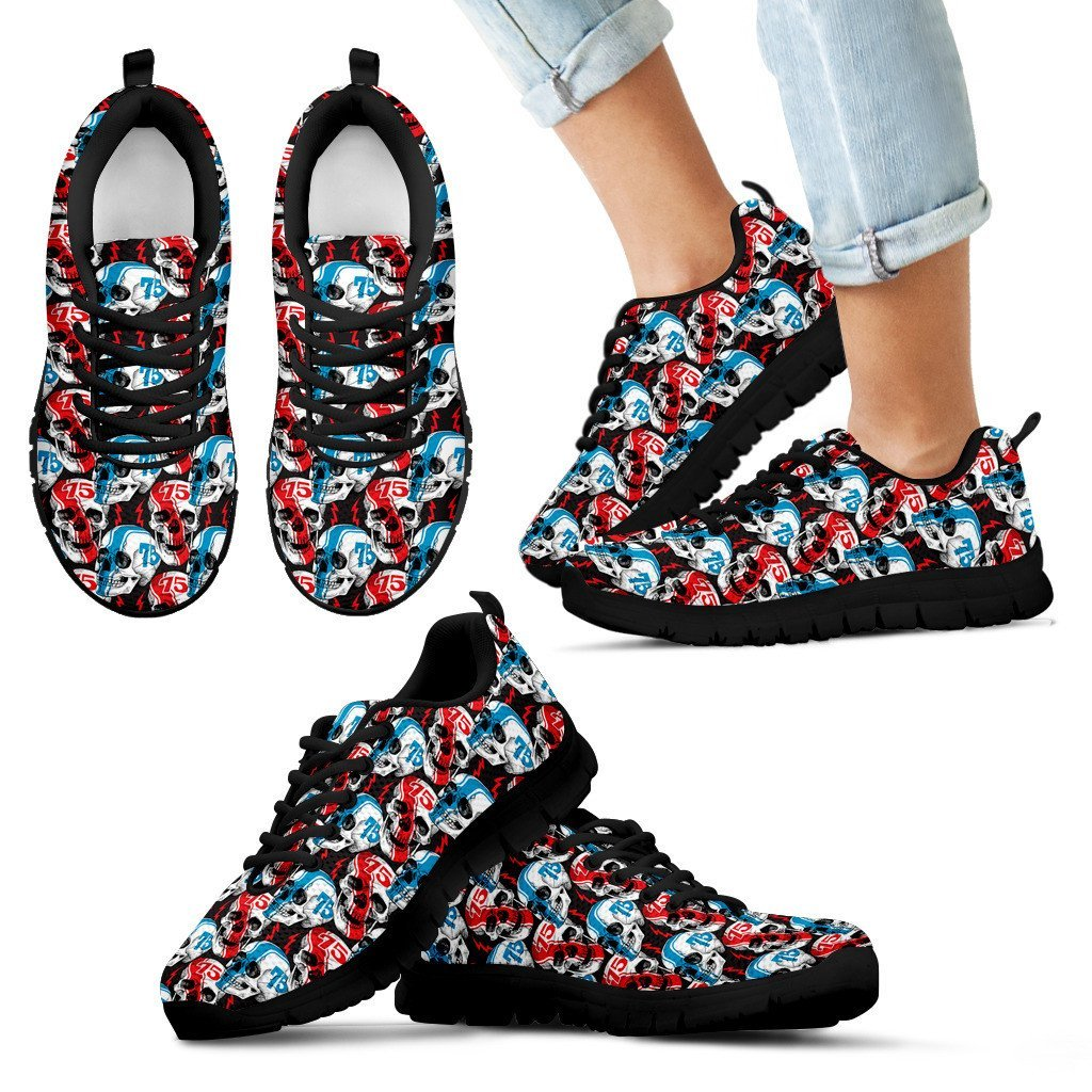 Skull Obsession Kid's Sneakers - Black - Blue & Red Sneakers  kids / 11 CHILD (EU28) Blue & Red Sneakers