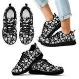 Skull Obsession Kid's Sneakers - Black - KB / 11 CHILD (EU28) WHITE SKULLS Sneakers