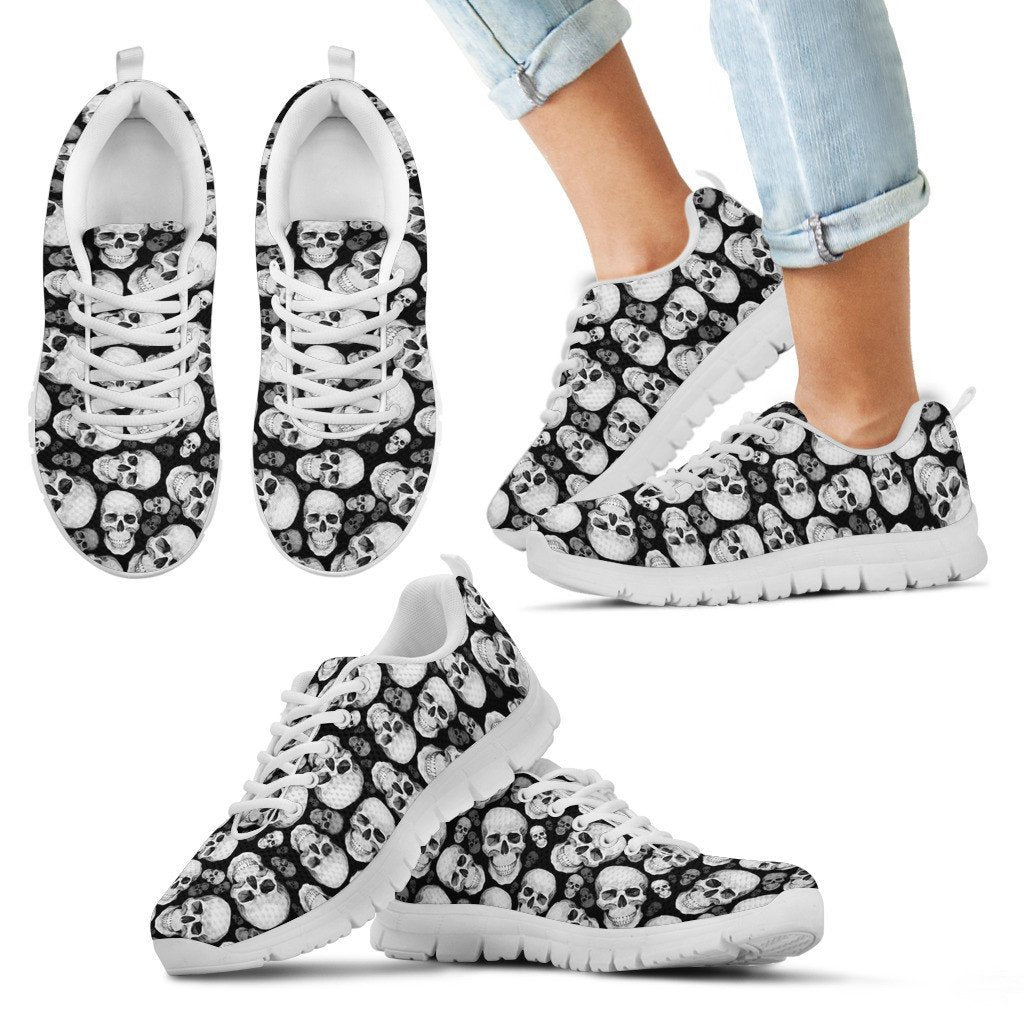 Skull Obsession Kid's Sneakers - White - KW / 11 CHILD (EU28) WHITE SKULLS Sneakers