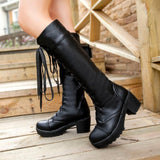 Skull Obsession Knee-High Women Boots